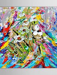 Óleo pintado mão faca pintura Floral Flores pintadas com quadro esticado