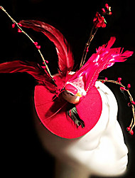 style européen plume d'oiseau cru occasion / chapeau spécial de stade