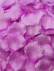 púrpura pétalos de rosa decoración de la mesa (juego de 100 pétalos)