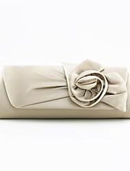 Damenhandtaschen / Kupplungen Satin mit Rose Blume (mehr Farben)
