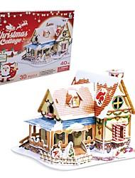 le cadeau de Noël maison intelligente chalet des puzzles 3d bricolage (de 40pcs)
