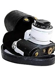dengpin® lederen beschermhoes camera case tas hoes struisvogel patroon opladen stijl voor Samsung NX3000