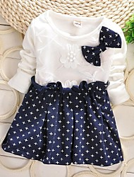 Girl's Blue Dress Cotton Fall / Spring