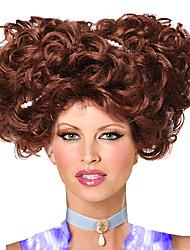 ведущая актриса кукольного дома коричневый 30см женщин Halloween Party парик