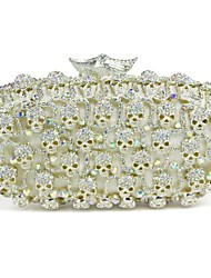 Women's Skull Design Rhinestonen Elegant Wedding Clutch