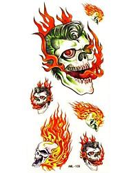 Waterproof Skull Temporary Tattoo Sticker Tattoos Sample Mold for Body Art(18.5cm*8.5cm)
