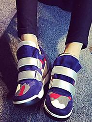 Chaussures femme ( Bleu ) - Simili Cuir - Marche
