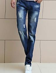 mannen Koreaanse stijl tijgebonden voeten jeans broek
