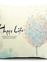 счастливая жизнь цветочный хлопок / лен декоративная наволочка
