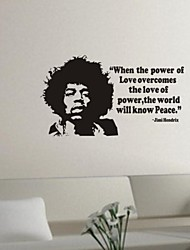 Wall Stickers Wall Decals, jimi hendrix PVC Wall Stickers
