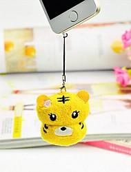 accessoires tigre forme la fibre cadeau d'anniversaire téléphone mobile serviette créatrice (couleur aléatoire)