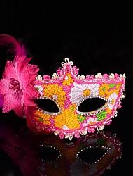 bella pizzo fiore maschera veneziana delle donne
