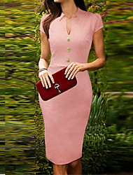 Dolce Women's Fitted Pink Pencil Dress