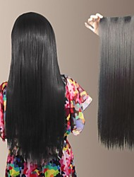 sintética natural a largo recta y clip en la extensión del pelo con 5 clips (más colores)