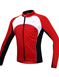 SANTIC® Cycling Jacket Men's Long Sleeve Bike Thermal / Warm / Windproof / Fleece Lining / Front Zipper Jacket / Jersey / TopsSpandex /