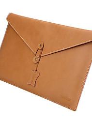 de cuero de 13 pulgadas manzana taikesen bolso de la caja de la manga suave del aire del macbook