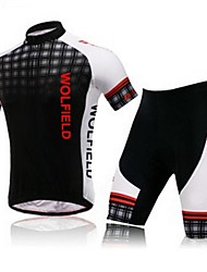 WEST BIKING® Cycling Jersey with Shorts Men's Short Sleeve Breathable / 3D Pad / Reflective Strips BikeArm Warmers / Jersey + Shorts /