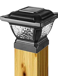aluminium solaire chapeau de poste de la lumière et des batteries rechargeables lampe de pont