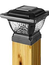 Aluminum Solar Light Post Cap And Rechargeable Batteries Deck Lamp