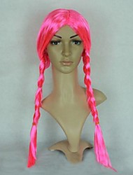 Pink Long Braid Halloween Wig
