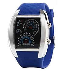 rpm azul turbo& destello blanco llevado reloj nuevos deportivos de regalo de marca para hombre marcado metros coche