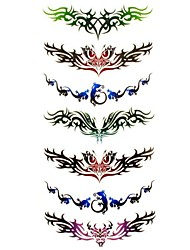 1pc Totem Style Butterfly Waterproof Tattoo Sample Mold Temporary Tattoos Sticker for Body Art(18.5cm*8.5cm)