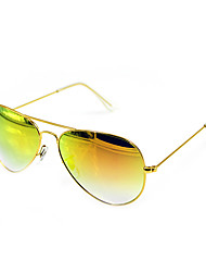 Anti-Reflective Aviator Metal Retro Sunglasses