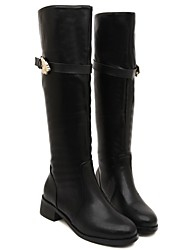 Women's Shoes Dazhongjie Round Toe Comfort Leather Motorcycle Boots