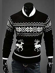 Men's Pure Pullover , Polyester Long Sleeve