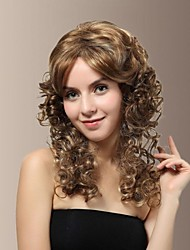 High Quality Synthetic Japanese Kanekalon Graceful Sweet Medium Length Hair Wigs with Side Bang