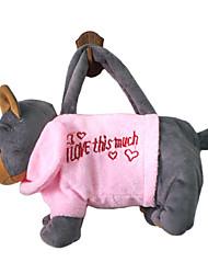 Brown Dog Design Plush Toys Soft Hand Bag(Random Color)