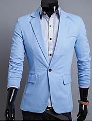 solapa delgada chaqueta de manga larga de los hombres
