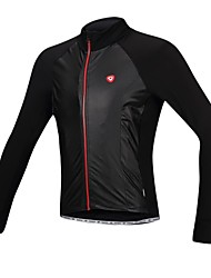 SANTIC Cycling Jacket Men's Bike Jacket Jersey Waterproof Thermal / Warm Windproof Fleece Lining Polyester PU Solid Camping / Hiking
