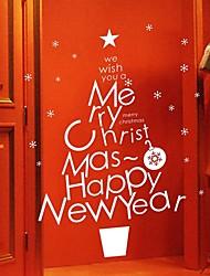 adesivos de parede decalques de parede, árvore de natal decoração de casa pvc adesivos de parede