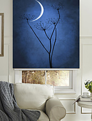 Silent Flower And Moon Roller Shade