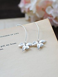 Earring Flower Hoop Earrings Jewelry Daily / Casual Alloy Silver