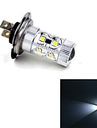 JMT-347 H7  60W 650lm 12LED Cool White Light Car Foglight - (DC 10~24V)