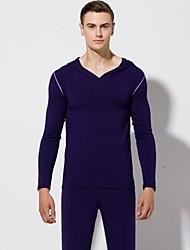 Men's Comfy Dancewear Fashion Healthy Modal Yoga Outfits For Men Royal Blue
