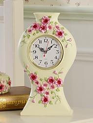 "hoshine® 10 ""pensée de résine h artisanat de style moderne de jardin fleur horloge de bureau"