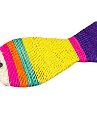 peixes coloridos gatos forma sisal cânhamo brinquedo