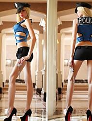 l'uniforme de la police de sexy bleu et noir femme adulte