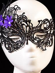 flor de la moda patrón de cisne de cristal máscara de partido del cordón