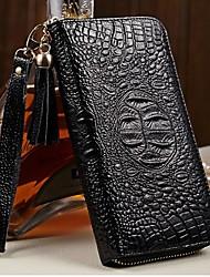 MEGA Women's Leather Wallet Tassel decoration Clutch Purse