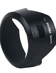Cappuccio dengpin® ph-RBA 52 millimetri lente per Pentax K10D K100D K20D K200D km kr k5ii k30 kx k7 da 18-55 mm f / 3,5-5,6 II al