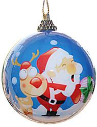 С Рождеством случайным образом украшать наклейками шары абс 7 * 7 * 7 см