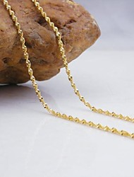Necklace Chain Necklaces Jewelry Wedding / Party / Daily / Casual Fashion Copper Gold 1pc Gift