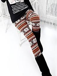 Women's Pearl Velvet Snow Deer Warm Fashion Not Inverted Velvet Leggings