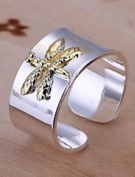 Splitter 925 zwei Farben Libelle Ring (1pc)