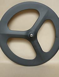 Yanbo 700C 3 habló Carbon 70mm wheelset del remachador para la pista de la bici / de la rueda delantera de la bicicleta (1 pieza)