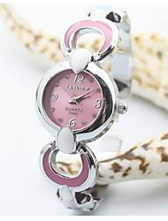 soha compactos simples doces coloridos pulseira de relógio para as mulheres